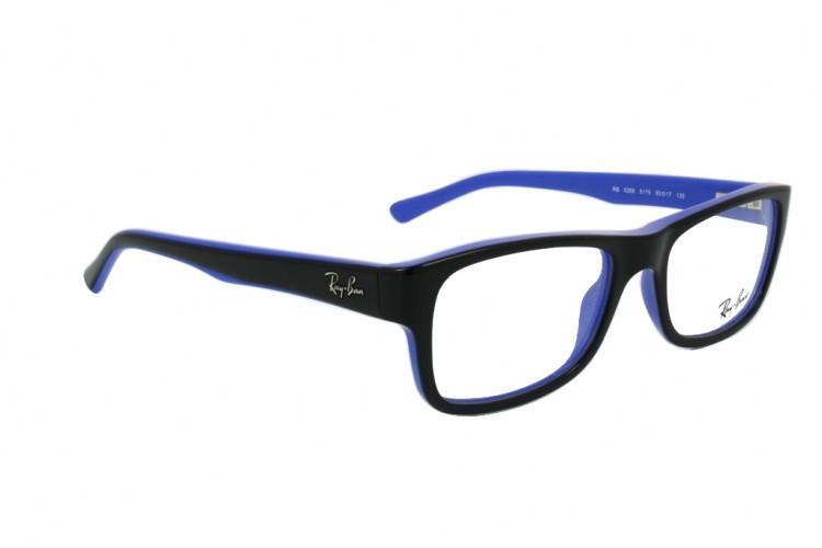 7b841c606ebc6d lunettes de vue ray ban rx 5268 noir et bleu 5179 - Bienvoir.com - Opticien