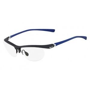 lunettes de vue nike 7070/2 noir mat et bleu 078