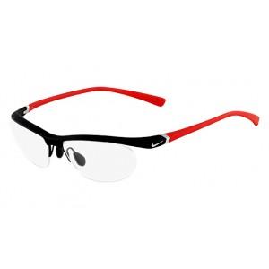 lunettes de vue nike 7070/2 noir mat et rouge 015