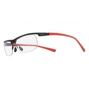 lunettes de vue nike 7071/2 noir mat et rouge 011