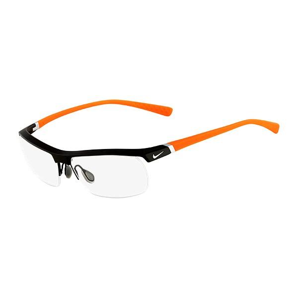 c932963ec8a894 lunettes de vue nike 7071 2 noir et orange 075 - Bienvoir.com - Opticien