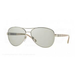 lunettes de soleil burberry be3080 argenté 10056v