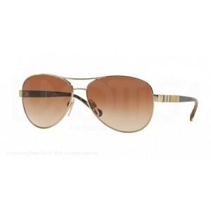 lunettes de soleil burberry be3080 doré 114513