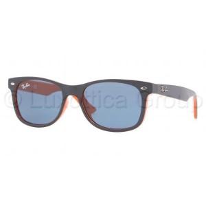 lunettes de soleil ray ban rj9052s bleu et orange 178/80