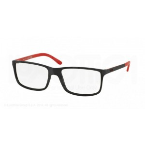 lunettes de vue ralph lauren ph2126 noir matt et rouge 5504