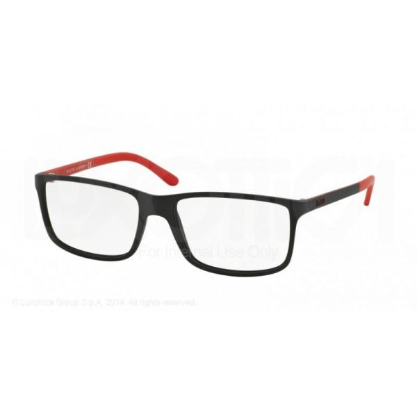 lunettes de vue ralph lauren ph2126 noir matt et rouge 5504 opticien. Black Bedroom Furniture Sets. Home Design Ideas