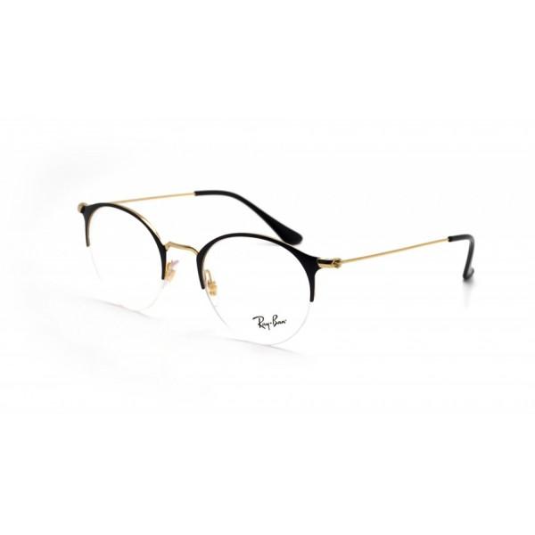 lunettes de vue ray ban rx 3578v dorée et noir brillant 2890 ... 53fe8bd19201