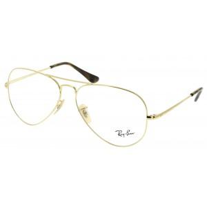 lunettes de vue ray ban rx 6489 dorée 2500