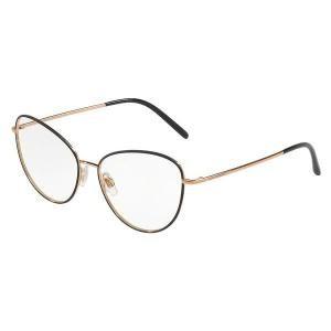 lunettes de vue dolce & gabbana dg1301 noir mat et dorée 01