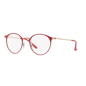 lunettes de vue ray ban rx 6378 dorée rose et rouge 2974