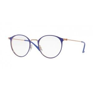 lunettes de vue ray ban rx 6378 dorée rose et violet 2972