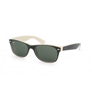 lunettes de soleil ray ban new wayfarer rb2132 noir et beige 875