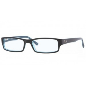lunettes de vue ray ban rx 5246 noir et bleu 5092