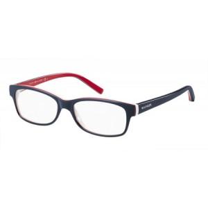 lunettes de vue tommy hilfiger th1018 bleu, blanc et rouge unn